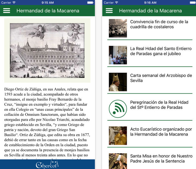 capturas app ios macarena