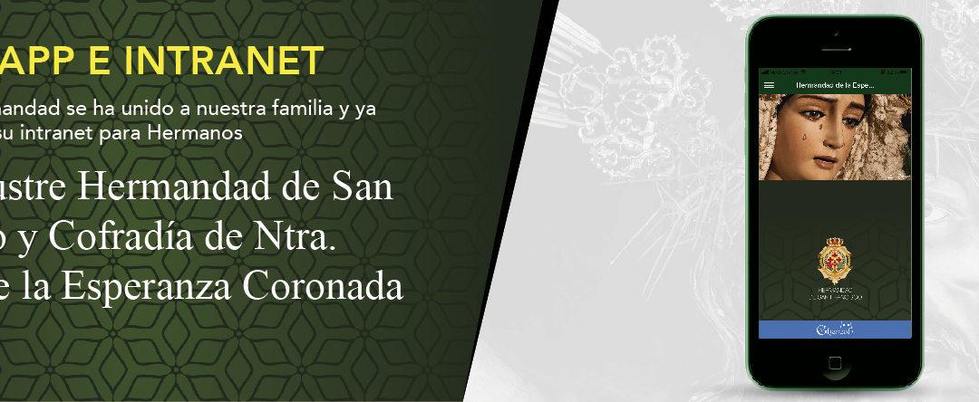 Nueva Intranet y App en La Hermandad de San Francisco (Esperanza de Huelva).